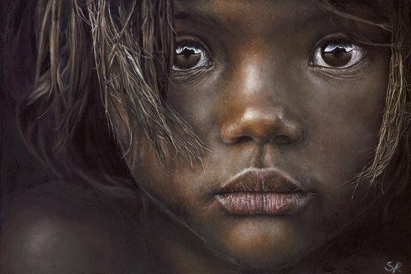 Miracle enfant noir - Photo noir et blanc enfant ...