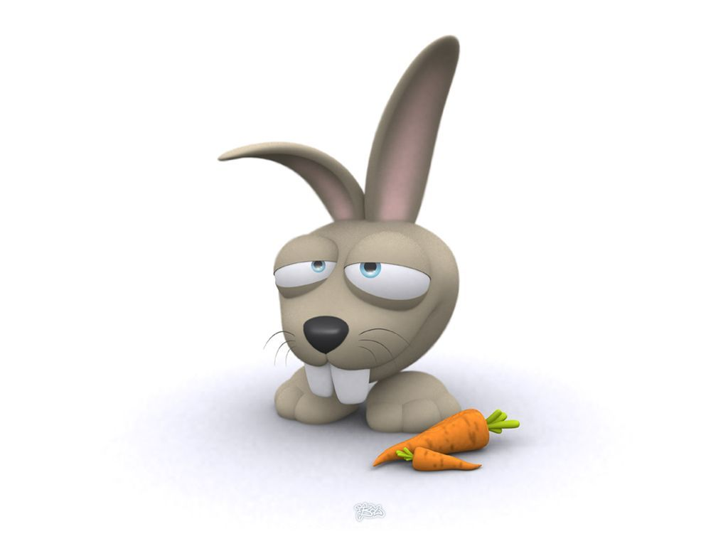 Funny 3d Animals Hd Wallpapers: Lapin