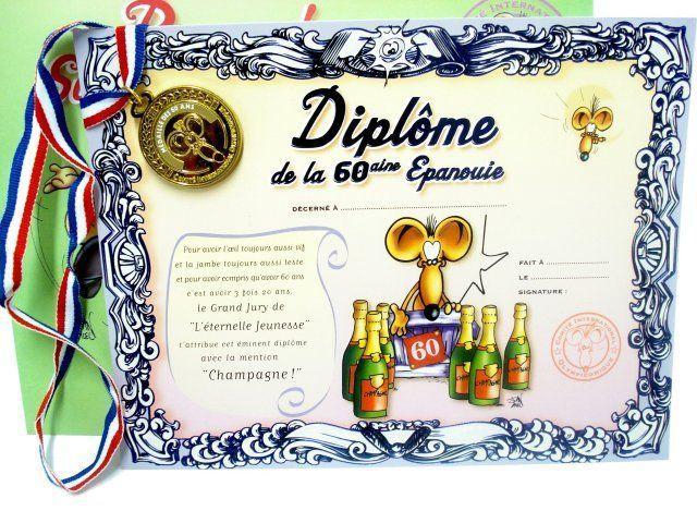 Diplome Humoristique Personnalisé - Cadeau Personnalisé et